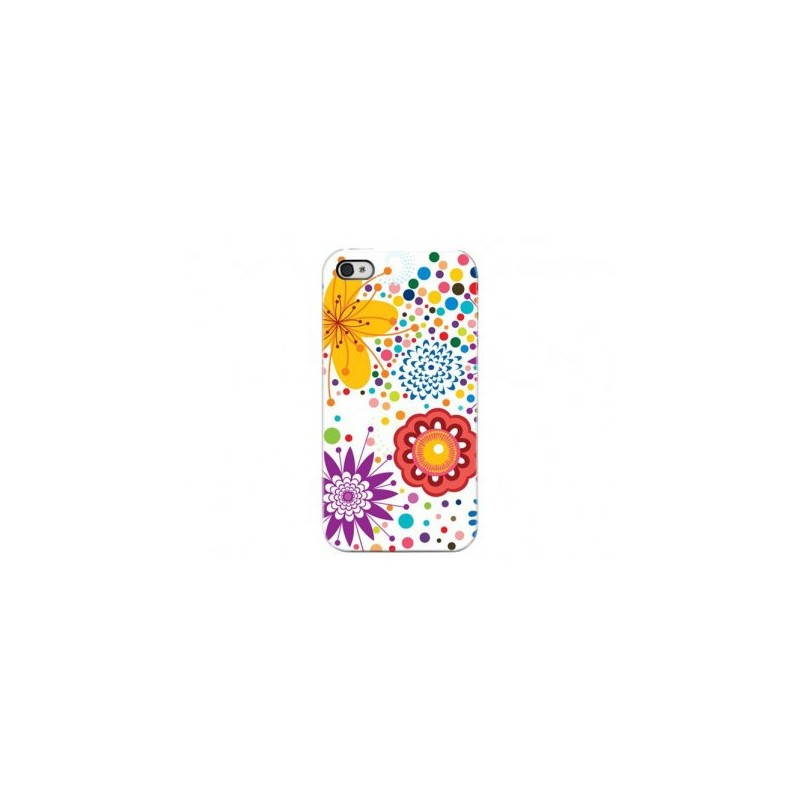 Cover Dot Flowers - Per iPhone 4 o 4S