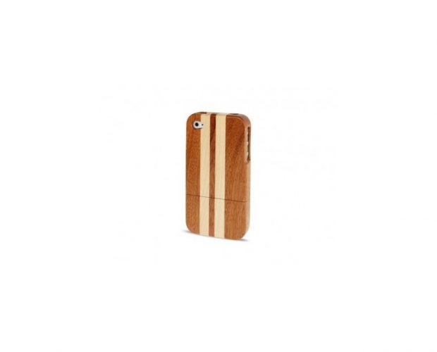 Cover Custodia In Legno Personalizzata iPhone 4 - 4s