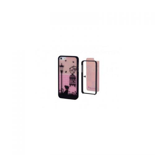 Cover Split 2 in 1 con Gatto per iPhone 4 o 4s