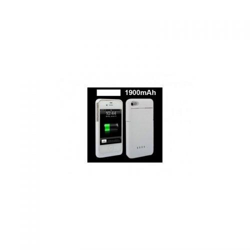 Cover Bianca Con Batteria Supplementare - Per iPhone 4 o 4S