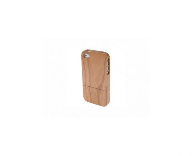 Cover in legno iPhone - incisione farfalla