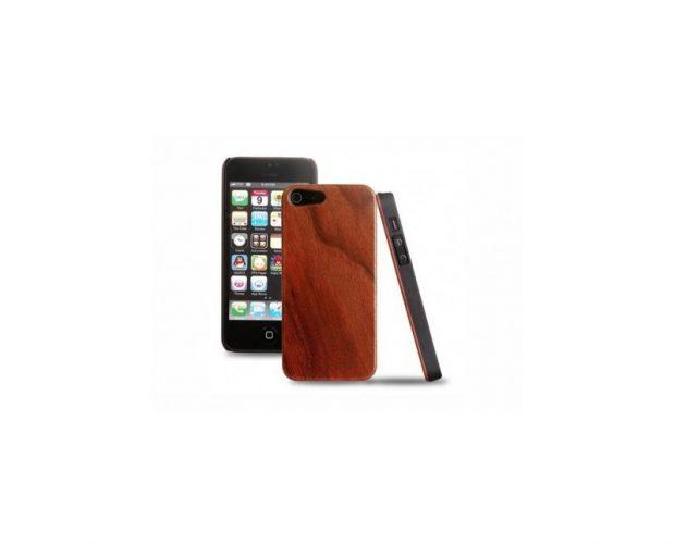 Cover in legno iPhone - incisione foglie