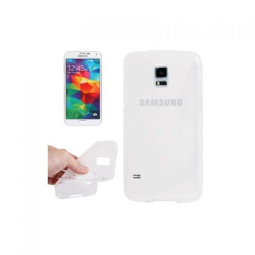 Cover protettiva antiscivolo per Samsung Galaxy S5 Trasparente