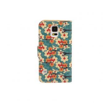 Custodia con fiori Card Slot per Samsung Galaxy S5