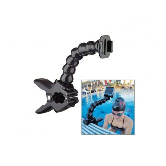Supporto con pinza e braccio flessibile per GoPro