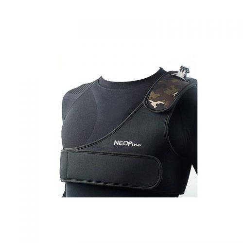 Fascia torace con supporto spalla per GoPro
