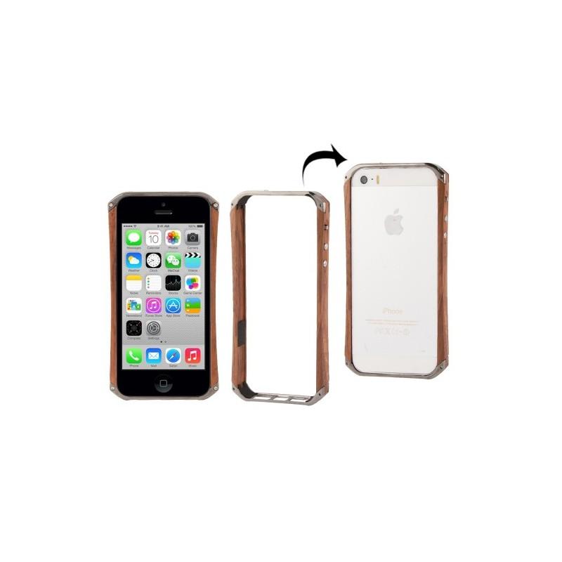 Bumper in legno e metallo - iPhone 5 e 5s