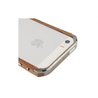 Bumper in legno e metallo – iPhone 5 e 5s