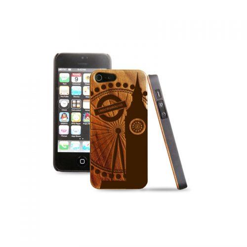 Cover in legno iPhone - Incisione Londra