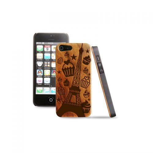 Cover in legno iPhone - Incisione Parigi