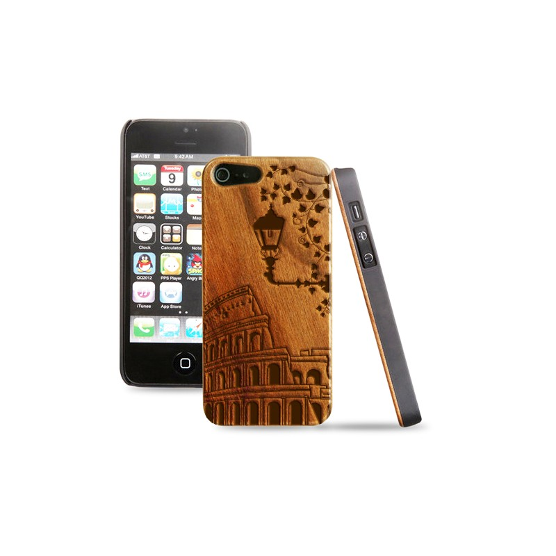 Cover in legno iPhone - Incisione Roma