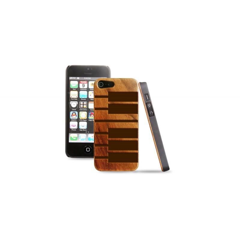 Cover in legno iPhone - incisione piano