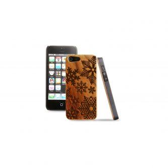 Cover in legno iPhone – incisione fiocchi di neve