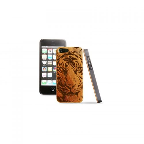 Cover in legno iPhone - Incisione Tigre