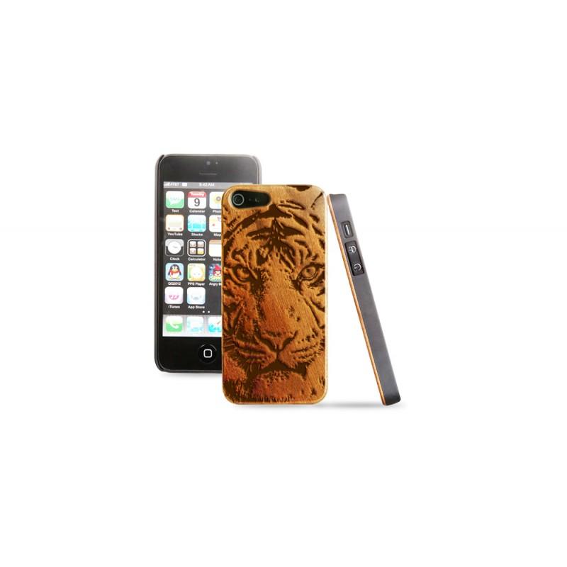 Cover in legno iPhone - Incisione Tigre