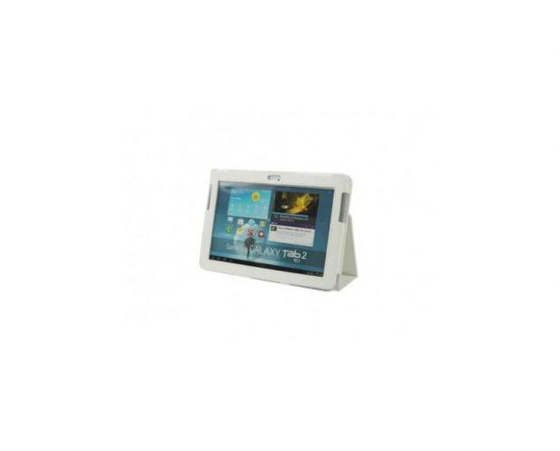 Custodia Pelle Bianca - Per Samsung Galaxy Tab 2 10 1