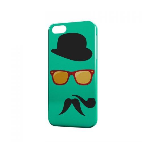 Cover Hipster con Occhiali Pipa e Mustache