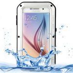 Custodia Love Mei ultrasottile con bordo nero per Samsung Galaxy s6