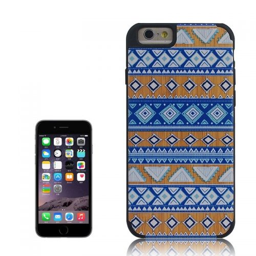 Cover iPhone 6 e 6s in Legno colorato con Pattern Blue