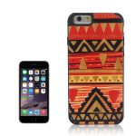 Cover iPhone 6 e 6s in Legno colorato con disegno Tribale Rosso