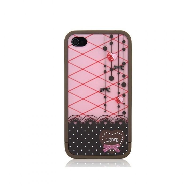 Cover Split Gatto per iPhone 4 o 4s