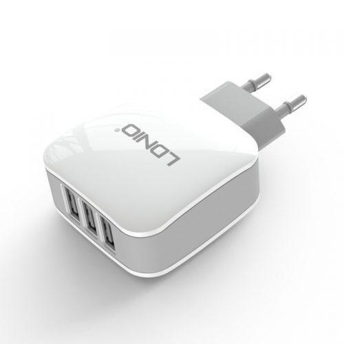 Alimentatore LDNIO da Parete 3 Porte USB 3.4A + Cavo