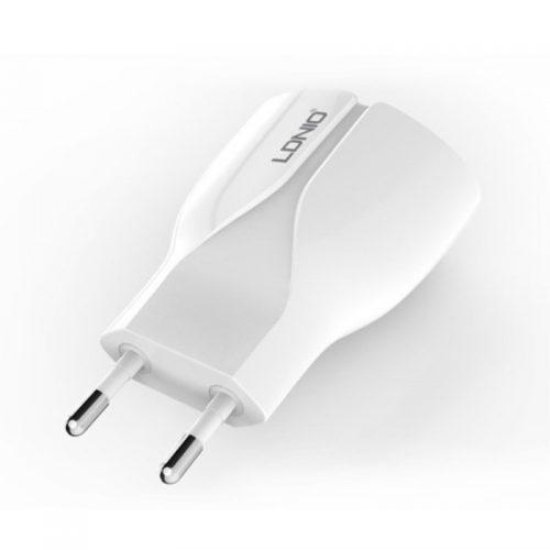 Alimentatore LDNIO da Parete 2 Porte USB 2.1 A + Cavo