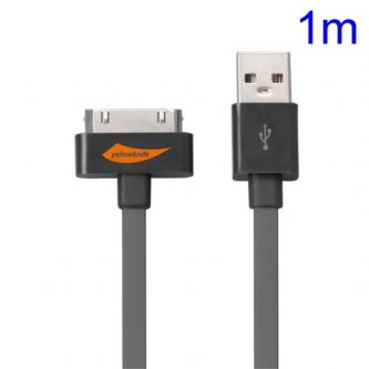 Cavo USB Certificato Apple MFi  per iPhone 4S 4 iPad 2 3 iPod Touch 3 4 – YellowKnife