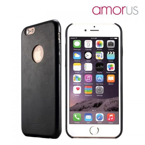 AMORUS Cover Slim Rigida per iPhone 6S / 6 da 4.7 pollici - Nero