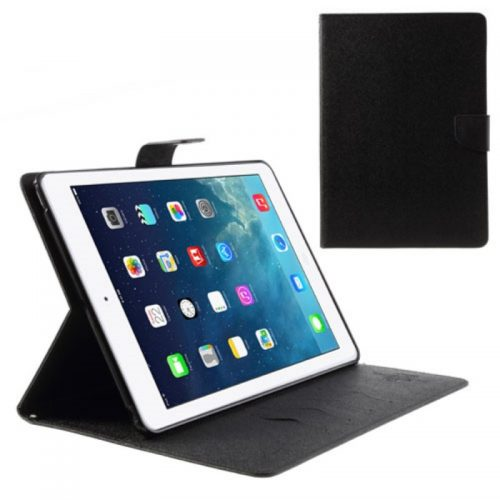 Mercury Cover in Pelle a Diario tipo Libro Raccoglitore per iPad Air - Nero