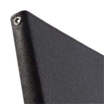 Mercury Cover in Pelle a Diario tipo Libro Raccoglitore per iPad Air – Nero